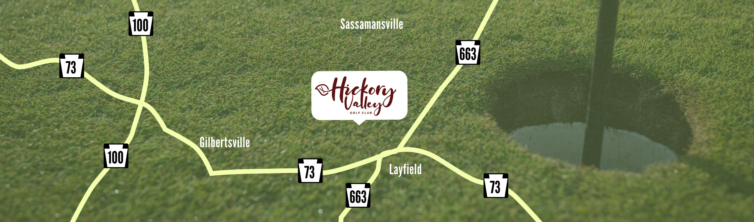 Map of Hickory Valley in Gilbertsville, PA