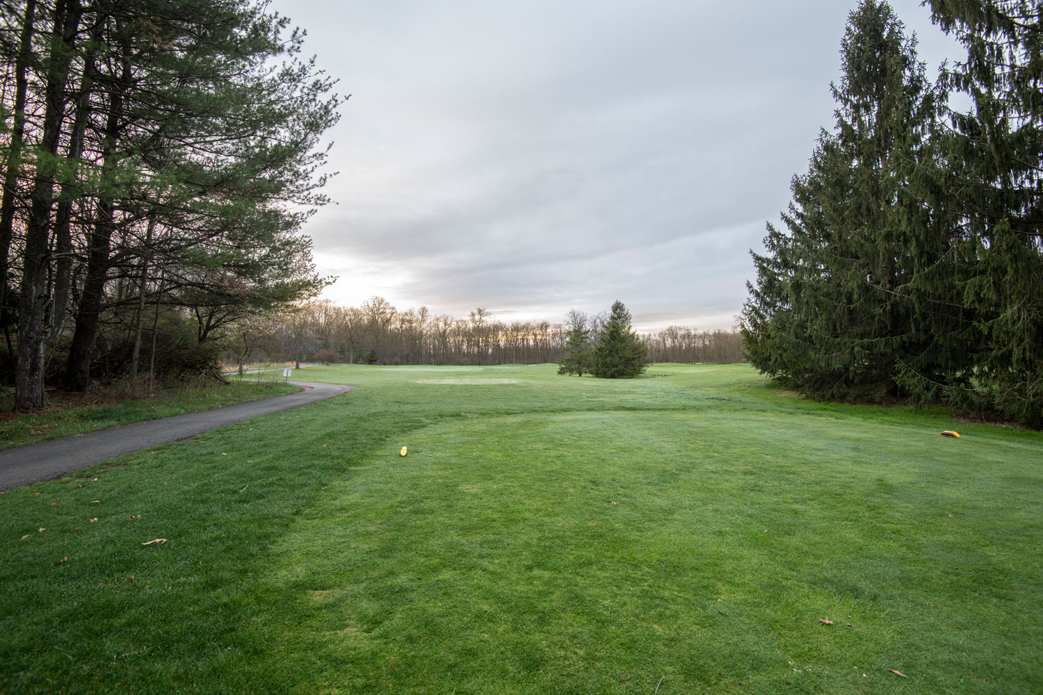 The fairway at Hickory Valley Golf Course